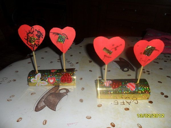 Centre de table st valentin - Bricolage st valentin ...