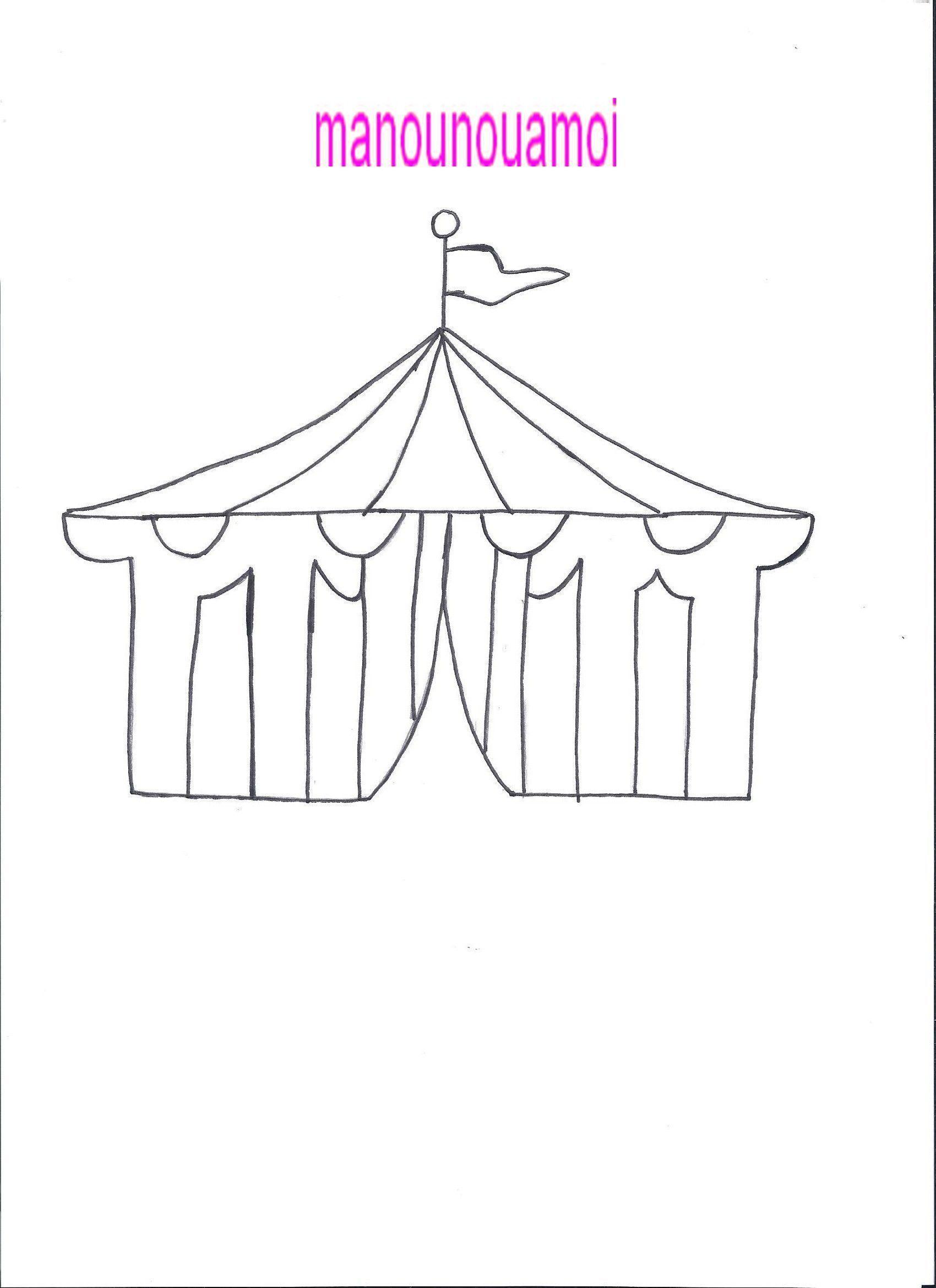 Le cirque - Coloriage chapiteau ...